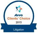 AVVO Clients Choice 2015 - Litigation - Logo and Link