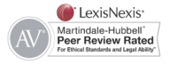"LexiNexis Martindale-Hubbell ""Peer Review Rated""  logo and link"