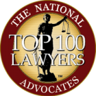 "The National Advocates ""Top 100 Lawyers""  logo and link"